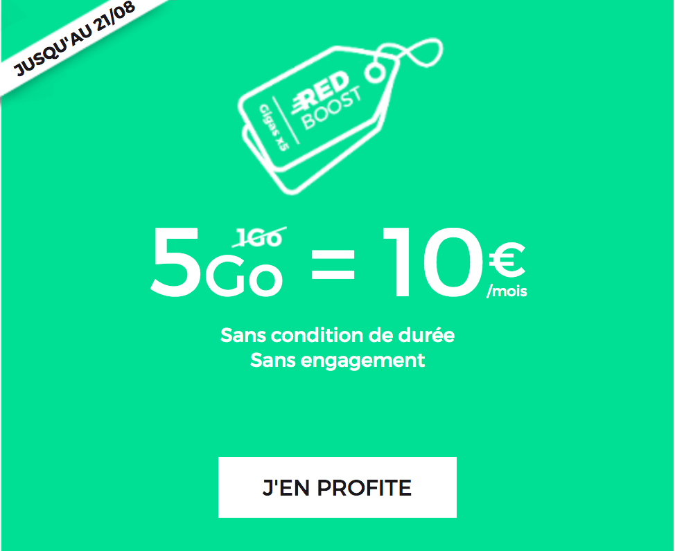 promo forfait mobile red by sfr